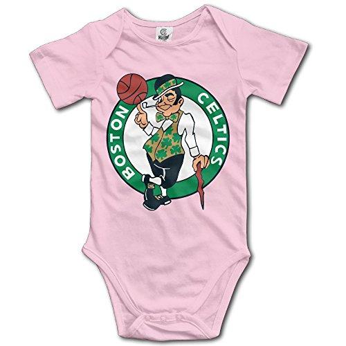 boston-celtics-pink-cartoon-short-sleeves-variety-baby-onesies-bodysuit-for-little-kids-size-6-m