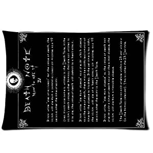 Death Note Custom Rectangle Pillow Cases 20x30 (one side)