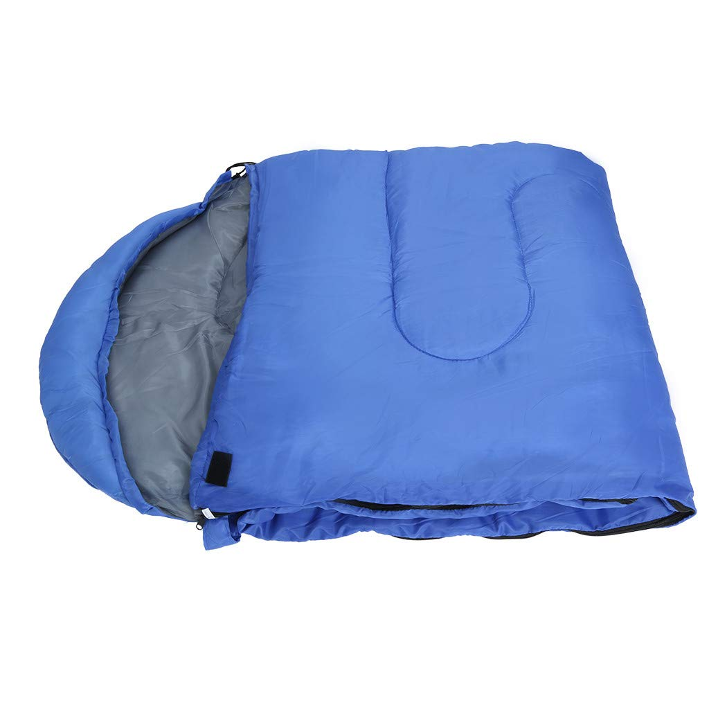 Besde Sport Sleeping Bag, Lightweight Portable, Waterproof, Comfort with Compression Sack - Great for Traveling, Camping, Outdoor Activities (Blue) by Besde Sport (Image #8)