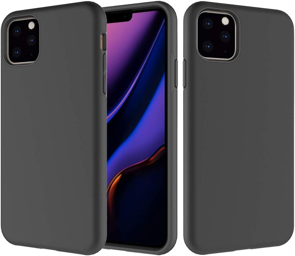 Heave Duty Case iEugen Compatible with iPhone 11 PRO Case 5.8 Inch (2019) 2 in 1 Gel Rubber Full Body Protection Shockproof Cover Case Drop Protection Case for iPhone 11 PRO [Black]