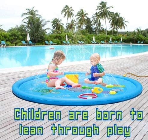 Fun Backyard Fountain Play Mat for 1-12 Year Old Girls Boys Kiddie Baby Pool 68 Outdoor Games Water Mat Toys Inflatable Splash Pad Sprinkler for Kids Toddlers Baby Infant Wadin Swimming Pool