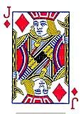 1/2 Sheet - Jack of Diamonds Poker Casino Las Vegas Birthday - D24145 - Edible Cake/Cupcake Party Topper