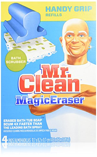 Price comparison product image Mr. Clean Magic Eraser Handy-Grip Bath Refills, 4 Count