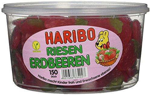 Haribo Riesen Erdbeeren ( Haribo giant Strawberries ) Tub -150 pcs