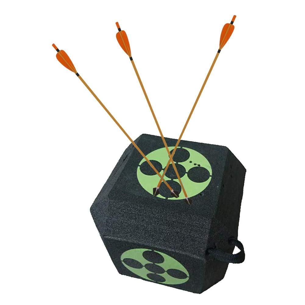 23cm 8.66in PENTAGON Flecha 3D de 6 Lados Target Cube Foam Foam Big Dice Archery Target para Entrenamiento de Caza Cuadrado de Objetivo para Arco Curvo
