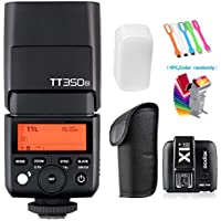GODOX TT350N 2.4G HSS High-Speed Sync 1/8000s TTL GN36 Flash Speedlite light with X1T-N Wireless Trigger Transmitter for Nikon Camera + Filters & USB LED Free Gift