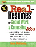 img - for Real-Resumes for Social Work & Counseling Jobs book / textbook / text book