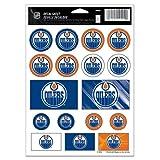 "NHL Edmonton Oilers Vinyl Sticker Sheet, 5"" x 7"""