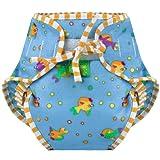 Kushies Swim Diaper, Goldfish Print, X-Large