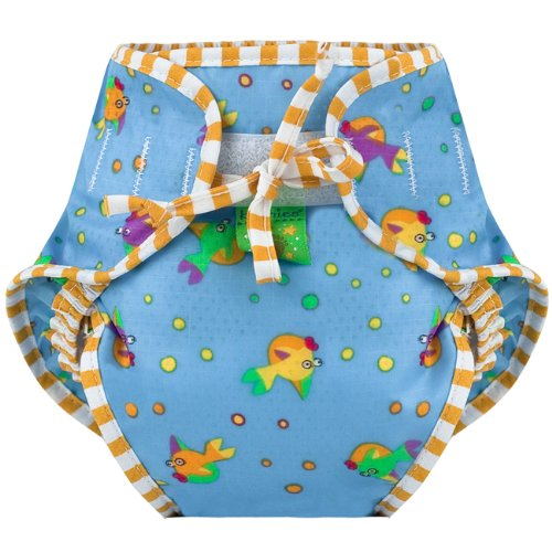 Kushies Swim Diaper, Goldfish Print, (Kushies Washable Diaper Liners)