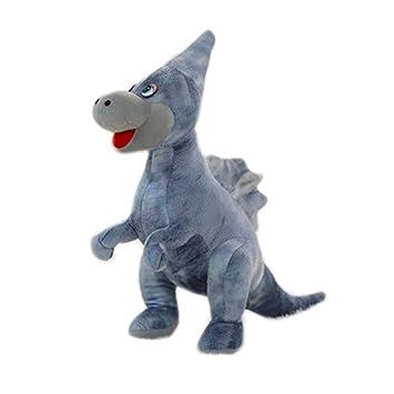 Simulación Animales de peluche dinosaurios y juguetes de peluche para niños (70cm Monoclonius gris)
