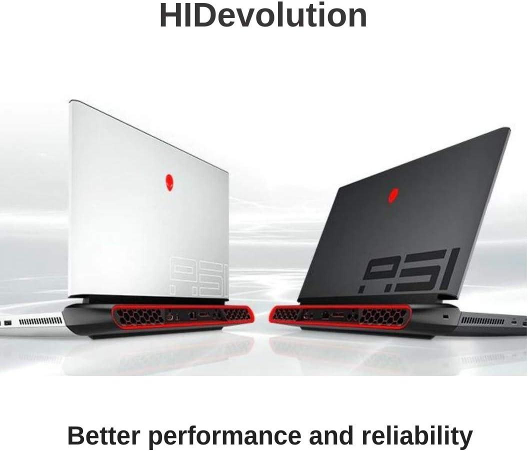 "HIDevolution Alienware Area-51M 17.3"" FHD 144Hz Gaming Laptop, White, 3.6 GHz i7-9700K, RTX 2070, 8GB 2400MHz RAM, 1TB SSHD"