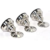4Pcs Speaker Spike Isolation Stand Cone Base Pads Stick-on for Audio Amplifier