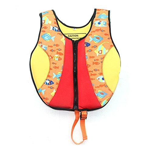 Swim Vest Learn-to-Swim Floatation Jackets,M, 4-6 Years Old, 20-30KG