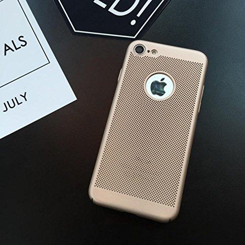 Funda iPhone 6/6S,Alta Calidad Ultra Slim Anti-Rasguño y Resistente Huellas Dactilares Totalmente Protectora Caso de Plástico Duro Case,Cuadrícula Disipación de calor Antideslizante Cover(YQ1-2) D