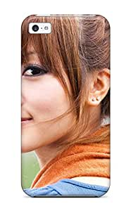 First-class Case Cover For Iphone 5c Dual Protection Cover Asian Girl With Bangs 8163864K23980304