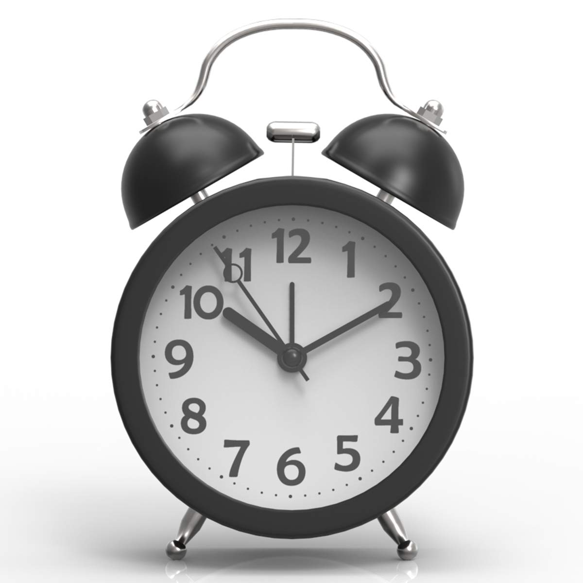 Despertador Redondo con dos Campanillas y de Volumen Superalta de Consumo de Bater/ía Verde PiLife Mini Silencioso de 3 Pulgadas del Estilo Cl/ásico con Retroiluminaci/ón