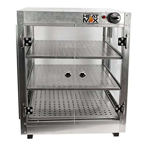 Commercial Food Pizza Pastry Warmer Countertop 20x20x24 Display Case by HeatMax