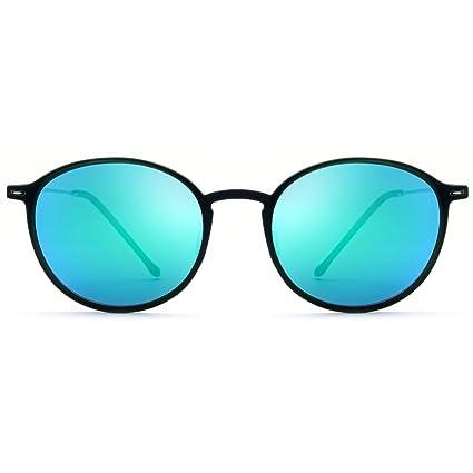 LBY Gafas De Sol Polarizadas Redondas Retro Gafas De Sol Ultraligeras para Hombre Y Mujer Gafas