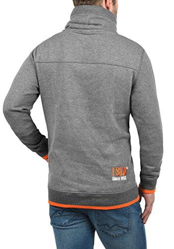 solid Forro 8236 Sudadera Suéter Benjamin Polar Melange Hombre Al Alto Jersey Para Cuello Tacto Con Grey Suave wrAwSqRnx