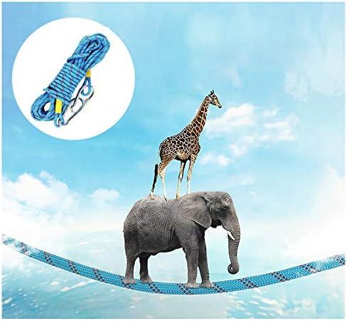 エスケープロープ補助ロープクライミングロープ、10mm家庭用消防緊急ラペリングロープ空中作業用ロープ、火災、ハイキング、登山用の高強度ロープ安全ロープ、青 (Size : 10mm/15m)