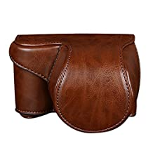 ABC® Leather Camera Bag Case Cover Pouch For Sony A5000 A5100 NEX 3N