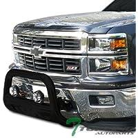 Topline Autopart Black HD Heavyduty Bull Bar Brush Push...
