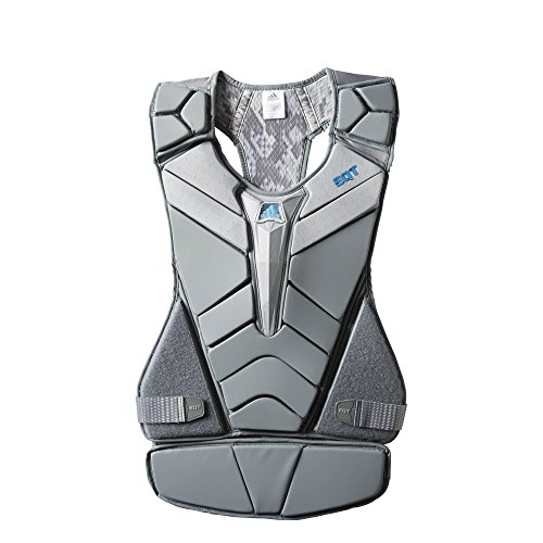 - adidas EQT Berserker G Lacrosse Goalie Chest Protector, Onyx Grey, Large