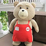 Teddy Bear Ted Plush Toys In Apron 48CM Soft Stuffed Animals Ted Bear Plush Dolls For Baby Kids Christmas Gifts