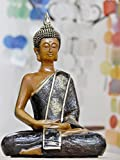 Buddha Dhyana Mudra with Golden Robe Polyresin, 8