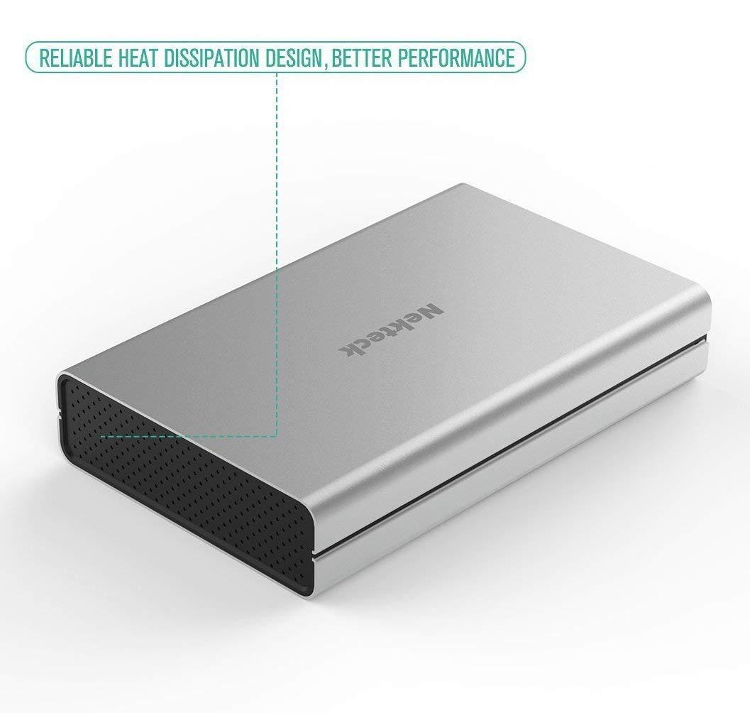 Amazon.com: Nekteck - Carcasa de aluminio para disco duro ...