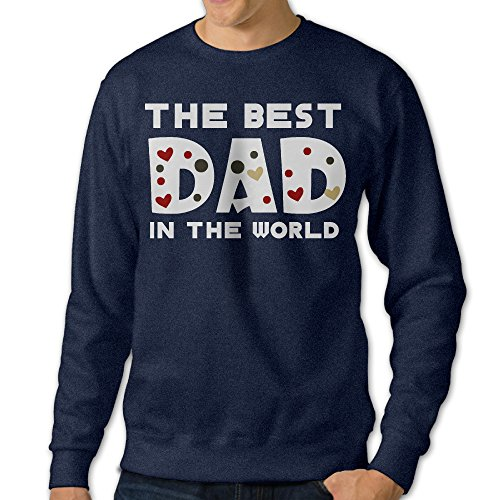 NUBIA Men's The Best Dad In The World Classic Hoodie Navy XL ()