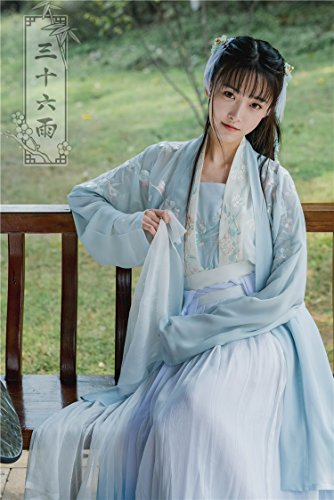 Generic Heavy embroidered Chinese clothing Chinese wind classical retro ladies temperament waist-breasted jacket skirt suit literary fairy for women girl by Generic (Image #1)