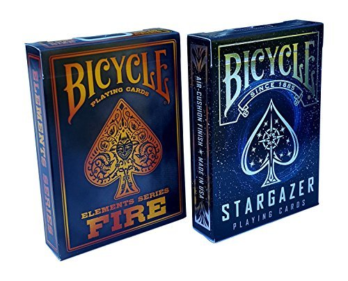 - Bicycle Stargazer & Fire Elements Series Playing Cards Bundle, 2 Decks (Basic pack)