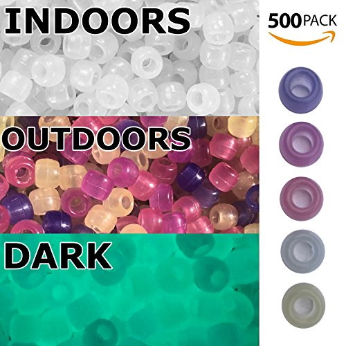 CIRCLY 500 Pack Beads uv Multi Color Changing + Glow in The Dark