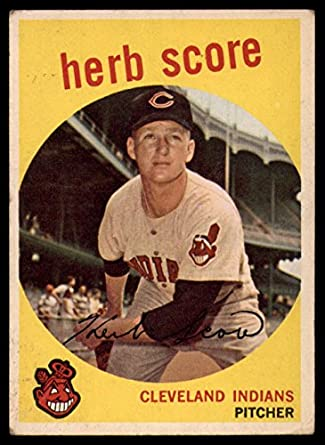 purchase cheap 74bf5 636fc Amazon.com: 1959 Topps # 88 Herb Score Cleveland Indians ...