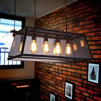 WEILON Käfig Kronleuchter Metall Kronleuchter Küche Und Bar 5 Light