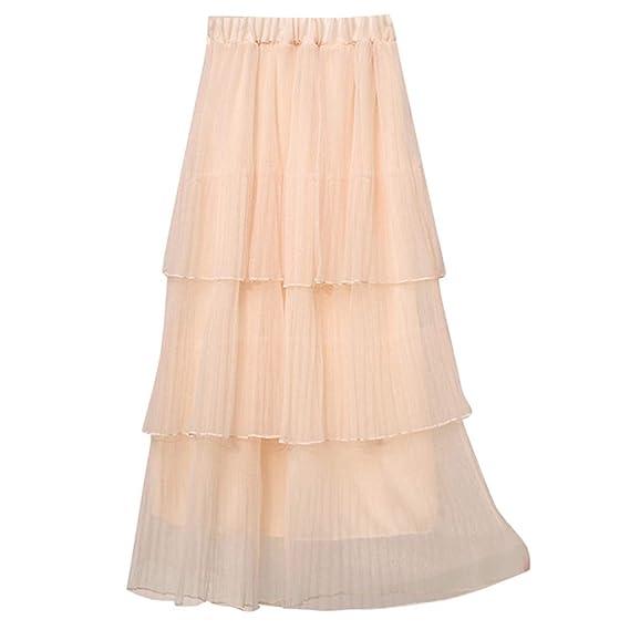Covermason Verano Falda Vestidos de Fiesta Mujer Cintura Alta ...