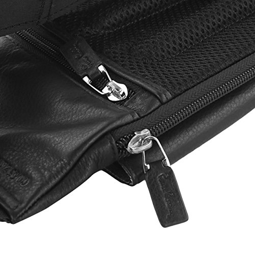 Pierre Cardin Genuine Leather Black Waist Running Belt Bum Bag Fanny Pack Pouch for Apple iPhone 6 6s / iPhone 6s Plus by Pierre Cardin (Image #8)