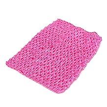 Zadaro Crochet Tube Elastic Waistband Headband Baby Girls Tutu Skirt Costume