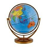 TCP Global 8'' (20cm) Blue Ocean Desktop World Globe Gold Base
