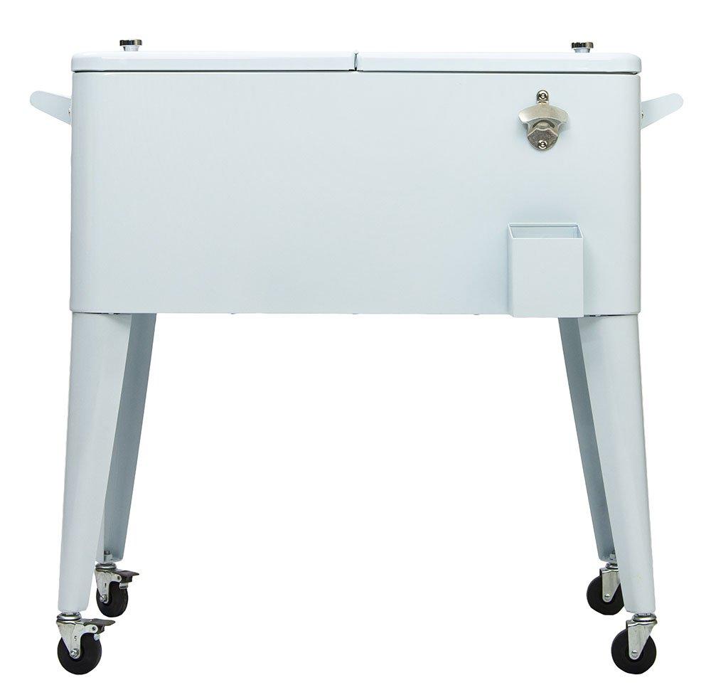 Permasteel 80 Quart Portable Cooler in White