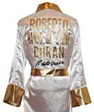 """Roberto Duran Signed White Robe """"HANDS OF STONE"""" on"""