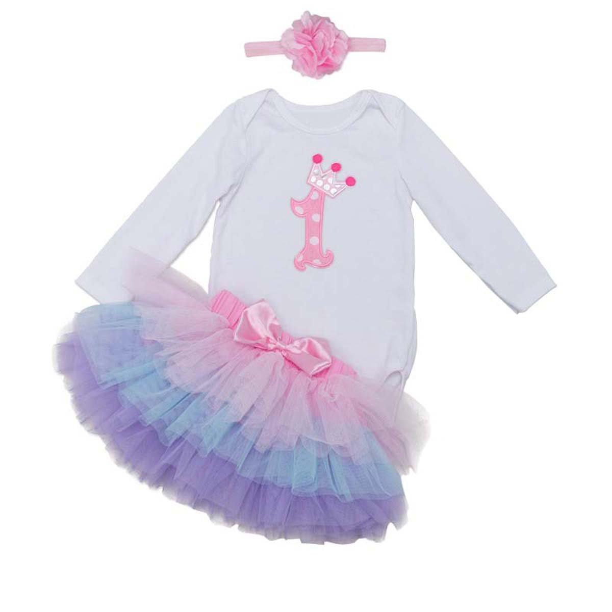 BabyPreg Bambina vestito primo vestito da partito vestito vestito Tutu Lunghezza manica lunga