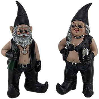 Amazon Com Biker Gnome With Motorcycle Garden Statue