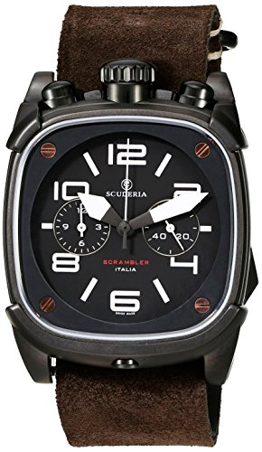 CT-Scuderia-Mens-CS70112-Scrambler-Analog-Display-Swiss-Quartz-Brown-Watch