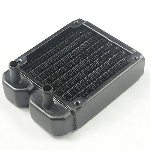 Nhowe R80c Matte Black Copper Heat Exchanger Radiator for CPU Pc Water Liquid Cool System