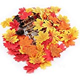 New 5 Color 500 pcs. Artificial Cloth Maple Leaves Multicolor Autumn Fall Leaf For Art Scrapbooking Wedding Bedroom Wall Party Decor Craft