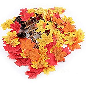Artificial Cloth Maple Leaves Multicolor Autumn Fall Leaf for Art Scrapbooking Wedding Bedroom Wall Party Decor Craft 102
