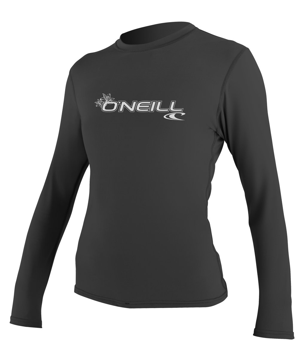 O'Neill Women's Basic Skins Upf 50+ Long Sleeve Sun Shirt, Black, X-Large by O'Neill Wetsuits